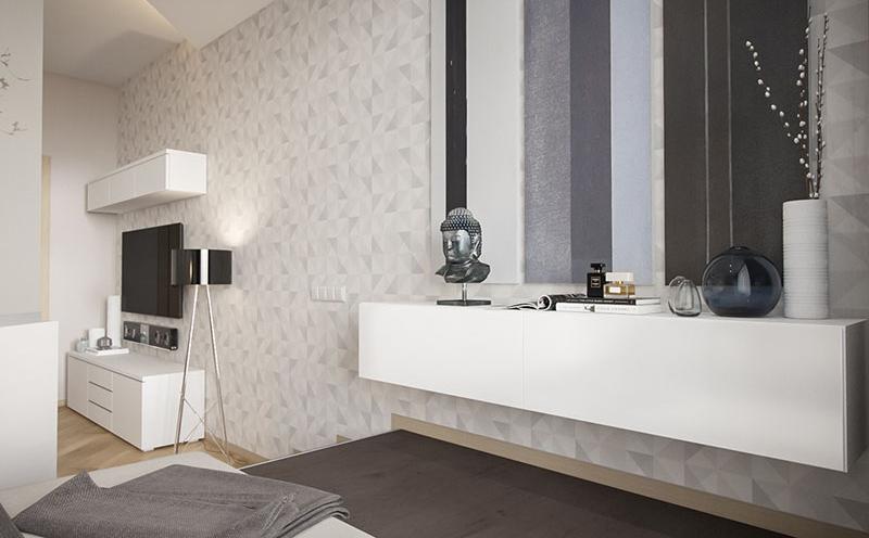 Small apartment geometric patterns