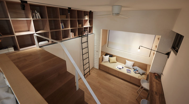 A Contemporary Small Loft Apartment in Taiwan | Home Design Lover