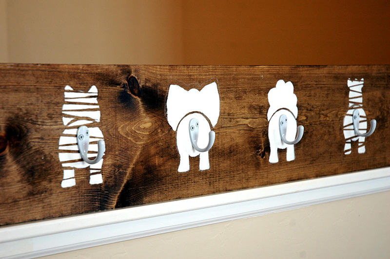Animal Bums Coat Hook