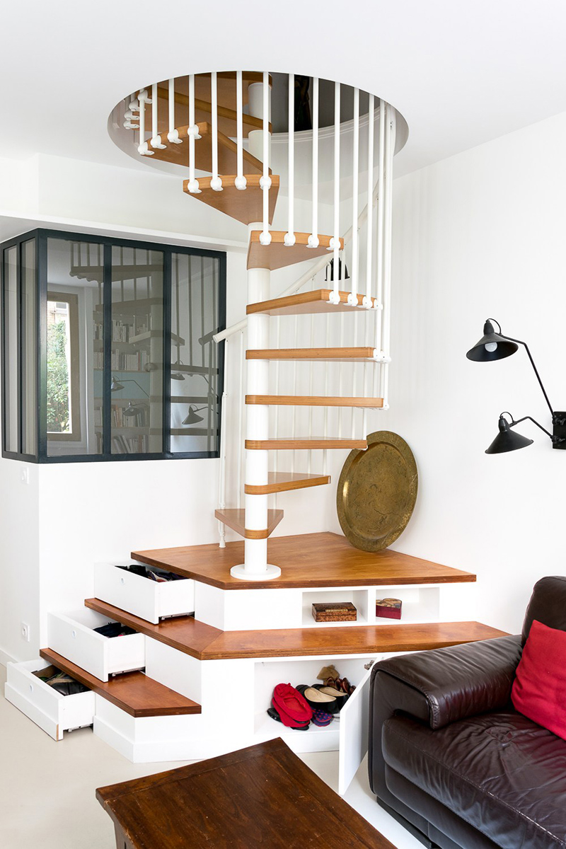 Apartment Huber spiral staircase