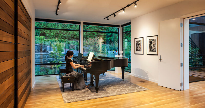 The Music Box Residence piano studio