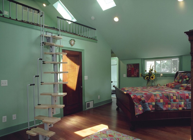 attic room stairs
