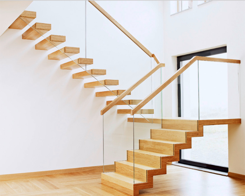 20 Wood and Glass Contemporary Staircase Designs | Home Design Lover