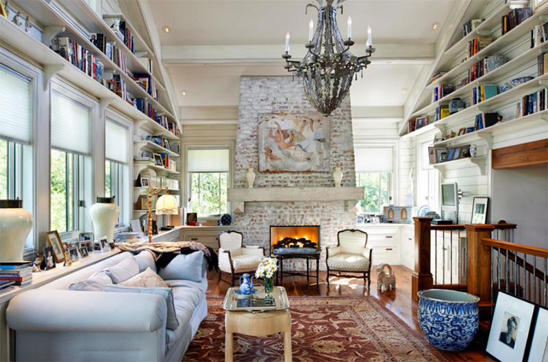 20 Painted Brick Fireplaces in the Living Room | Home Design Lover