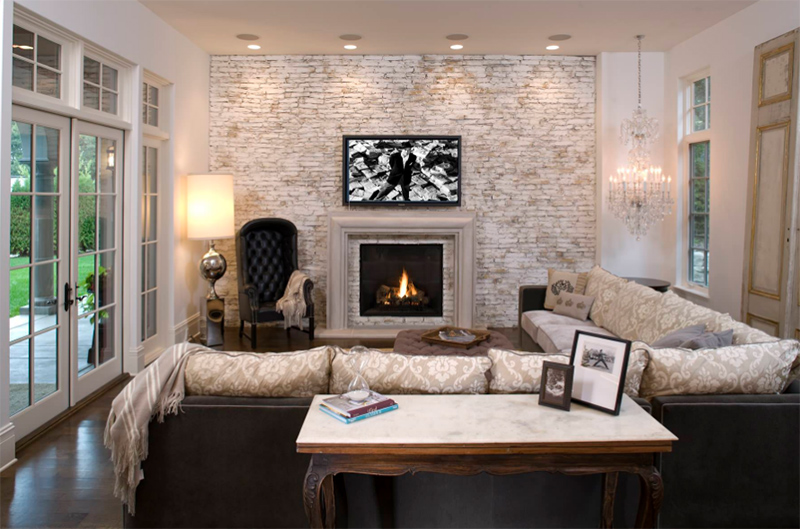 The fireplace becomes a focal point of the home wherever you place it but usually it is seen in the living room and it would have various finishes as well