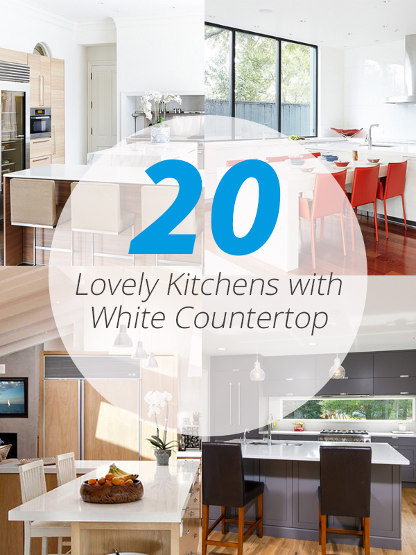 white countertop kitchens