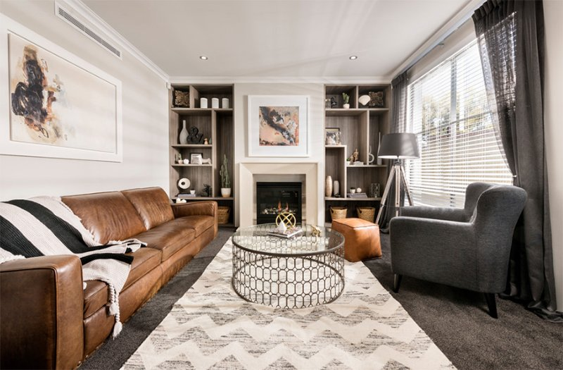 22 Gorgeous Brown And Gray Living Room Designs Home Design Lover