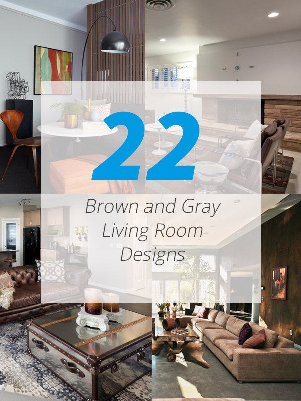 brown gray livingroom - Grey And Brown Living Room