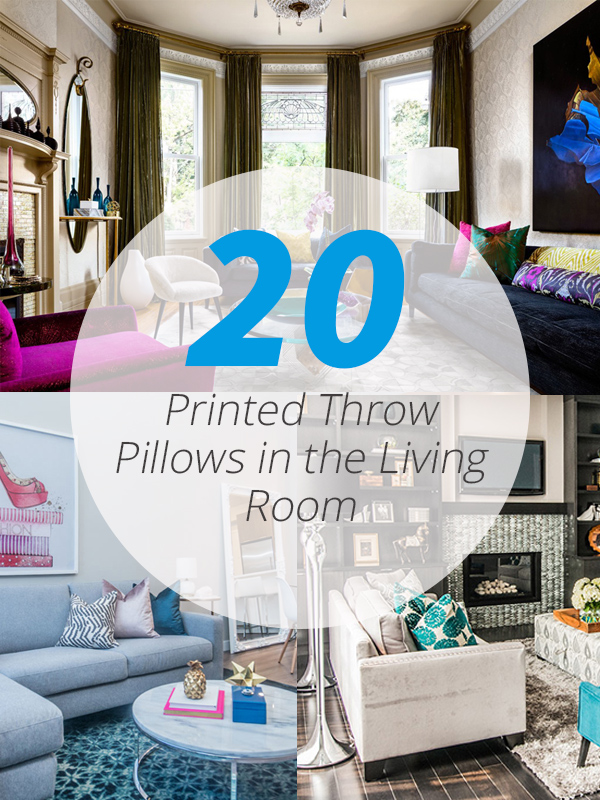 printed throw pillows