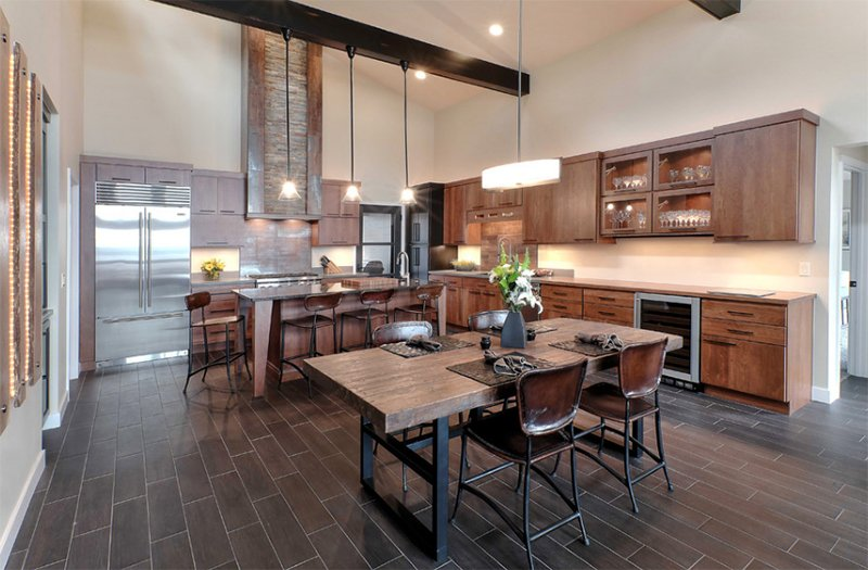 22 appealing rustic modern kitchen design ideas home for Modern rustic farmhouse plans