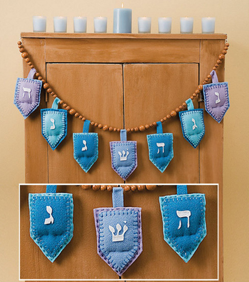 Homespun Hanukkah Garland