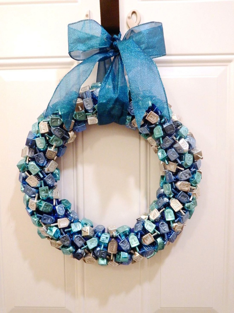 DIY Dreidel Wreath