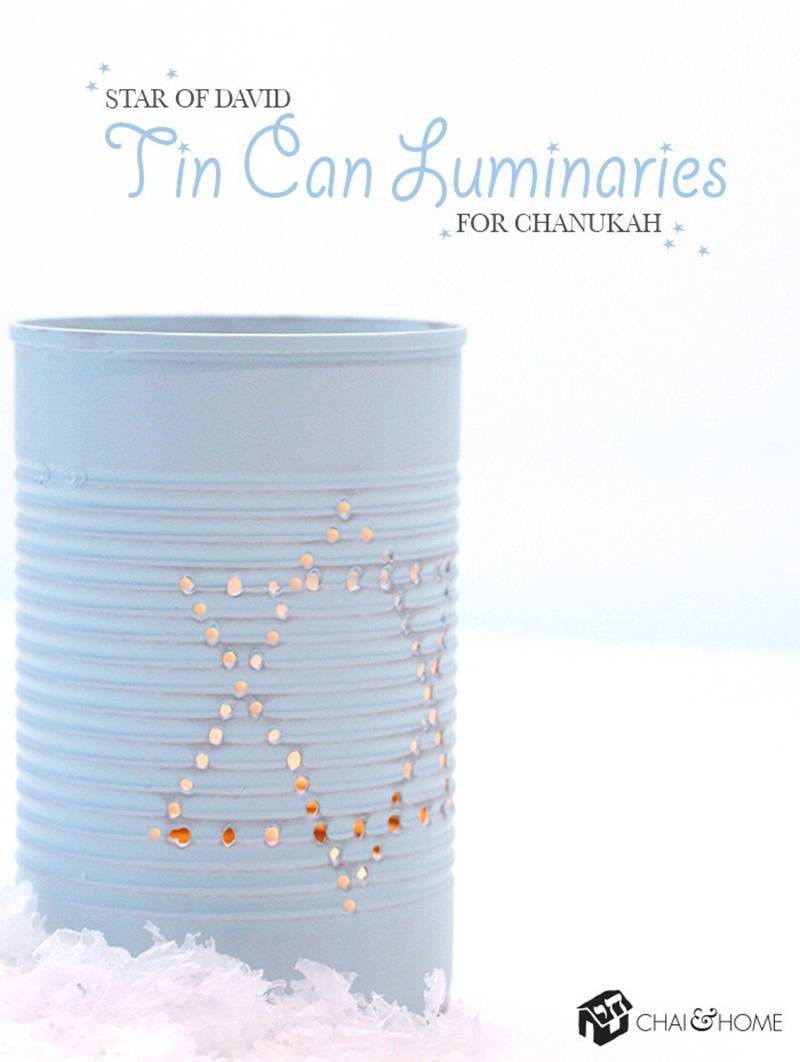 Chanukah Chanukah Tin Can Luminaries
