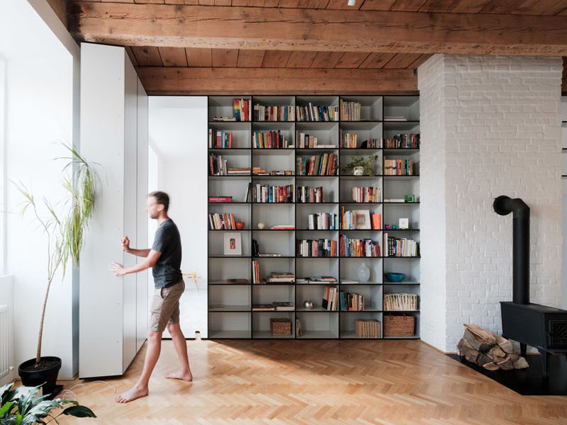 Brilliant Trn Flat Reconstruction Features A Hidden Bedroom Behind A Complete Home Design Collection Epsylindsey Bellcom