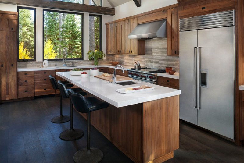 Rustic Modern Kitchen Ideas Part - 33: Lake Tahoe Residence