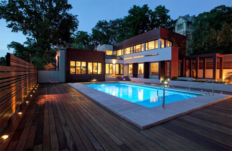 20 Modern Contemporary Rectangular Pools With Wooden