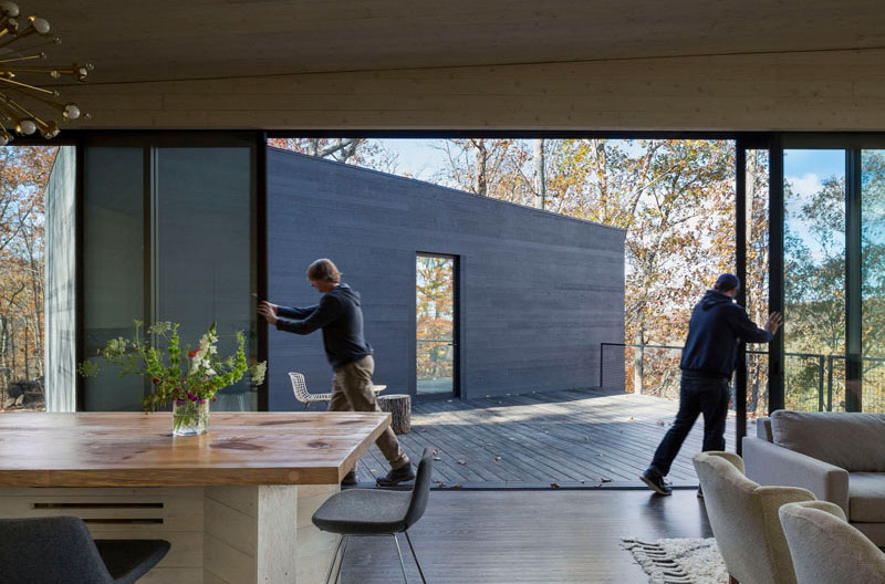 James River House sliding door
