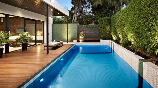 20 Modern Contemporary Rectangular Pools With Wooden Decking Home Design Lover