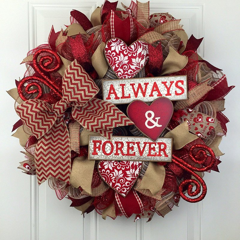 Valentine Gift Idea 2 Home Decor Frame Layout: 20 DIY Valentine's Day Wreaths That Will Make You Say XOXO