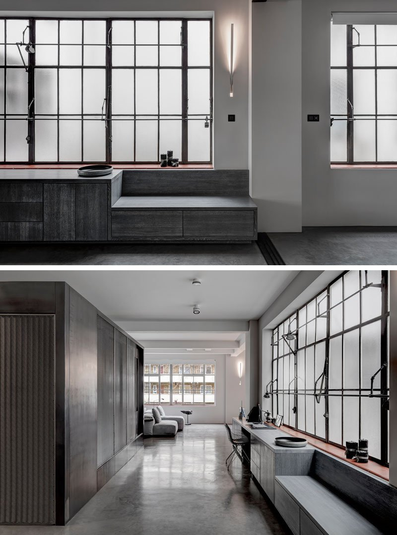 Industrial apartment shoe factory windows