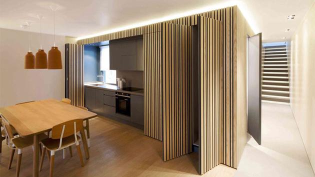 An apartment in maida vale features a hidden kitchen - Cocinas ocultas ...