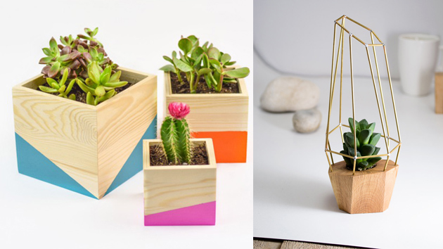20 Simple Geometric And Modern Wooden Planters To Diy Home Design