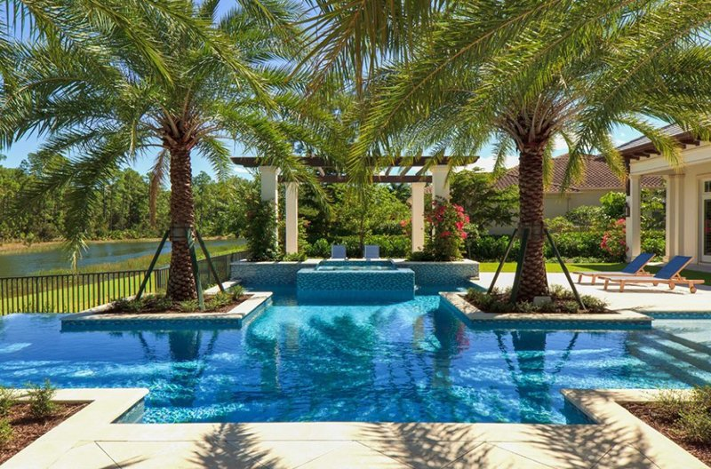 20 Beautiful Swimming Pool Landscaping With Trees Home