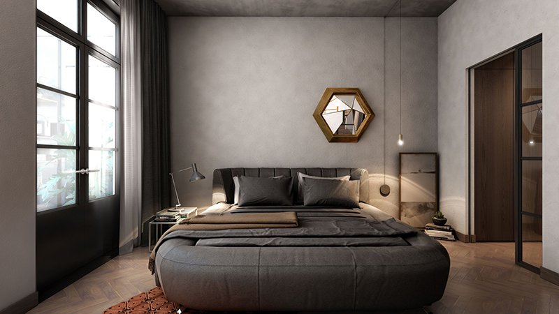 20 appealing bedrooms with concrete walls home design lover