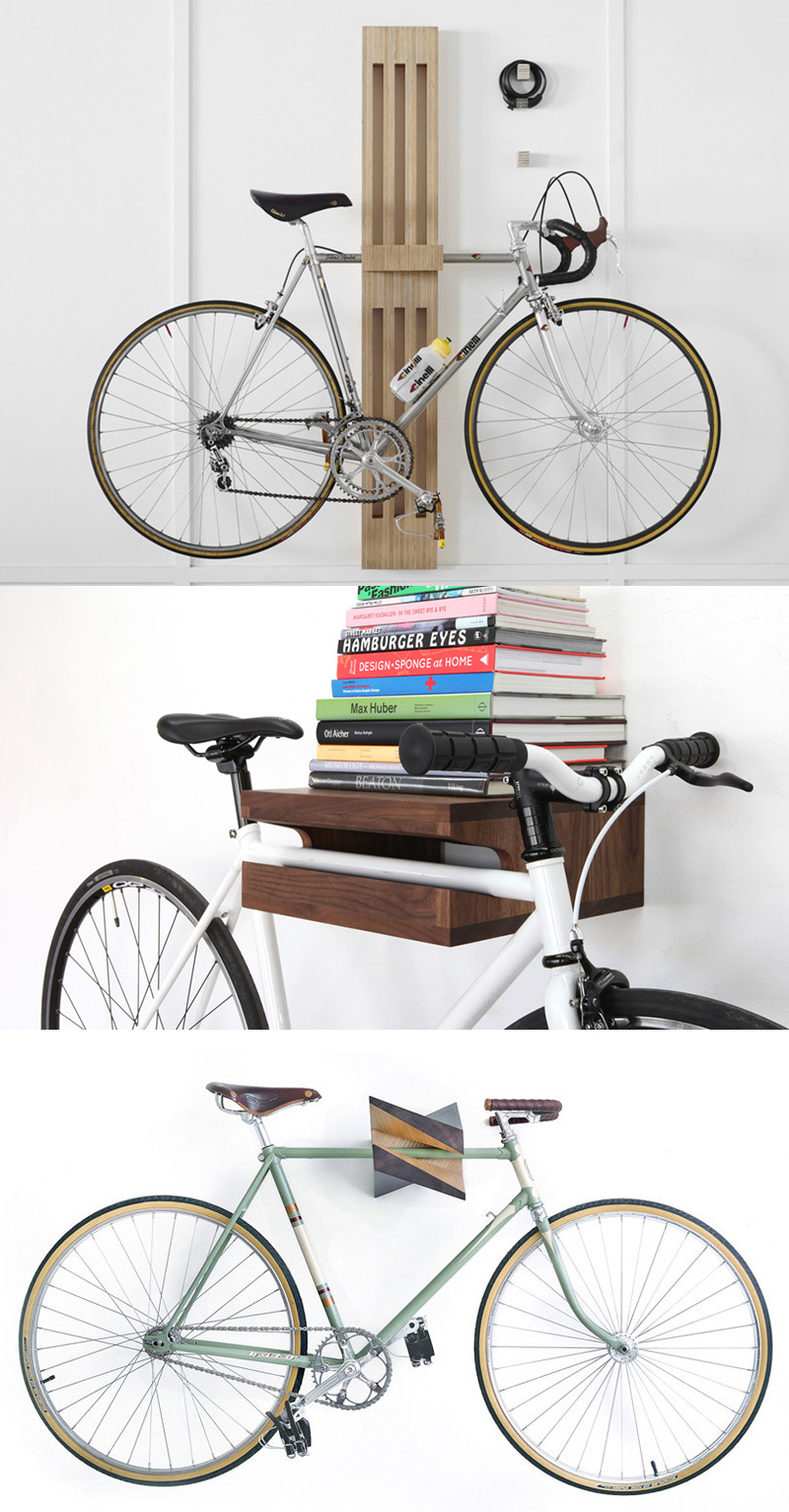 20 creative bike storage ideas for small spaces home design lover - Bike storage small space design ...