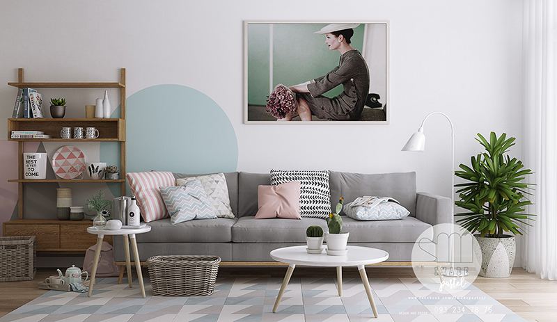 20 ways to use pastel colors in scandinavian living rooms home design lover. Black Bedroom Furniture Sets. Home Design Ideas