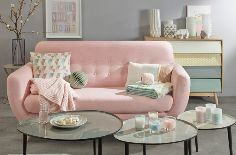 20 Ways to Use Pastel Colors in Scandinavian Living Rooms | Home ...