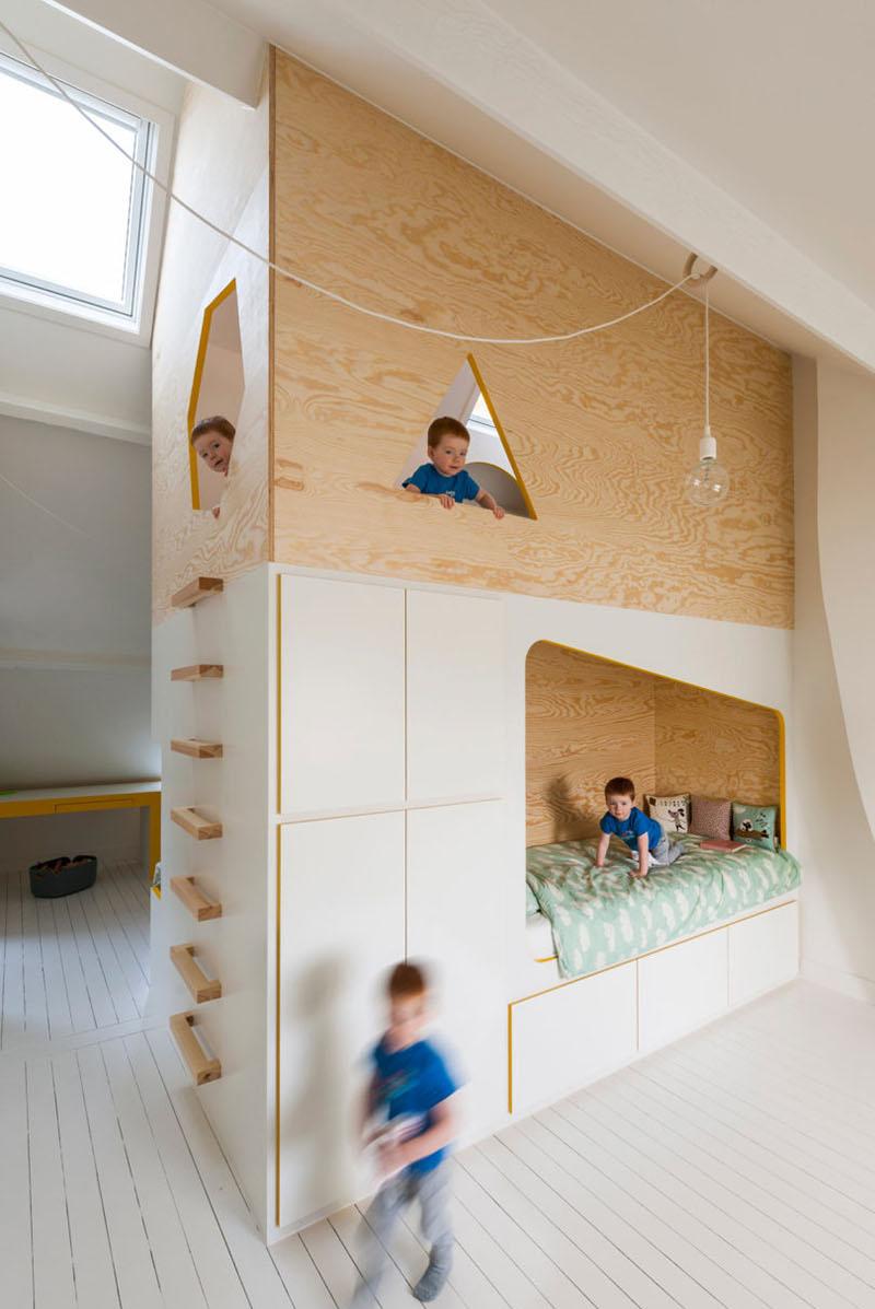 Modern Minimalist Kids Double Decker Lofted Bed Design Home Design Lover