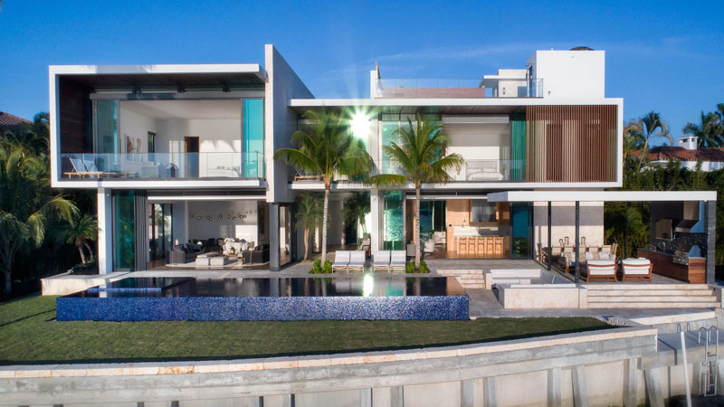 Hibiscus island residence an island paradise home in for Miami home design usa