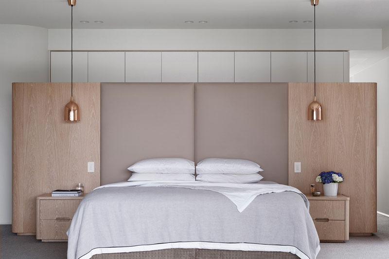 master bedroom in symmetry