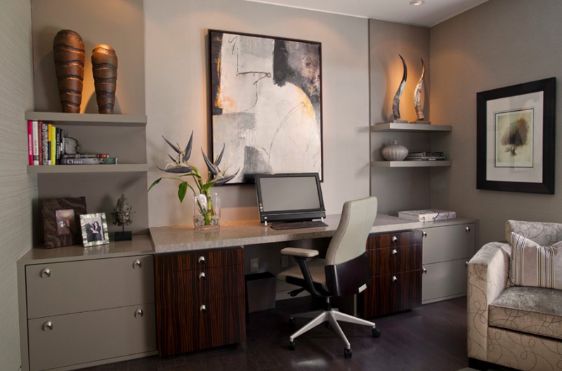 20 ideas for contemporary home office designs home design lover for Interior designers rochester ny