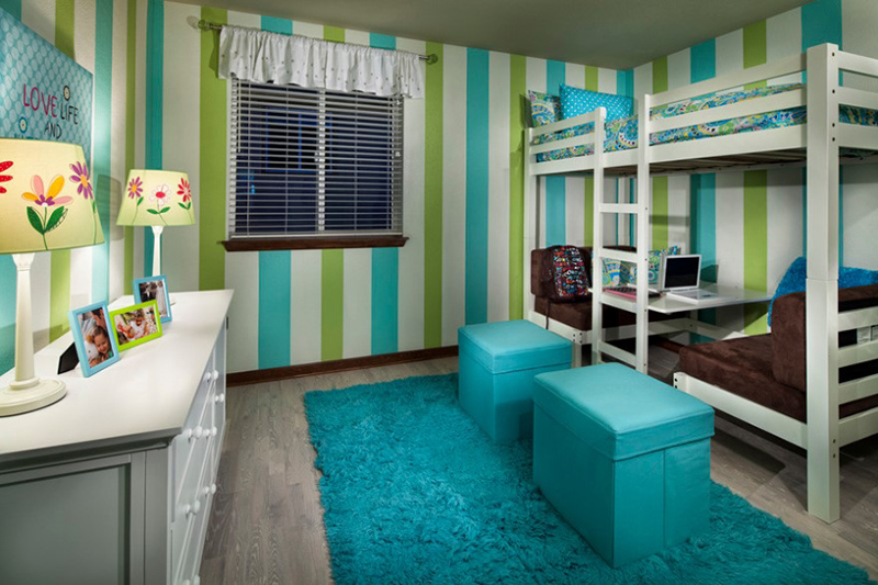 Vista Ridge Model Homes Girls Room