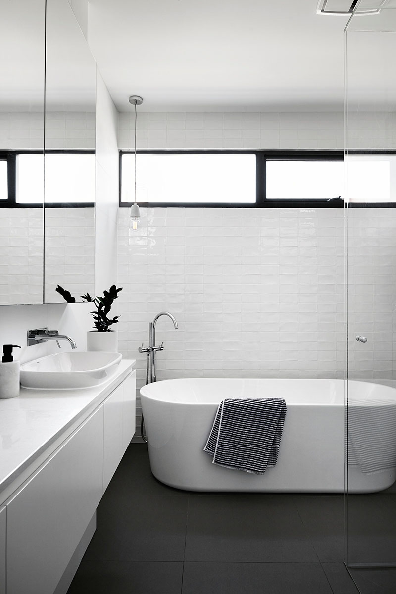 Toorak House black and white bathroom