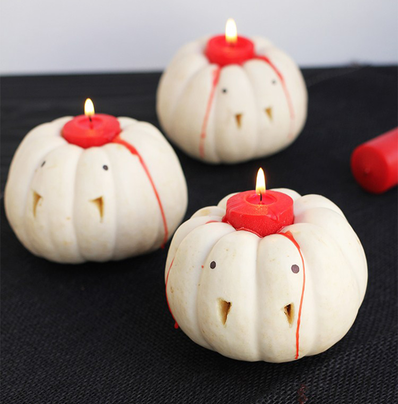 Vampire Pumpkin Candles
