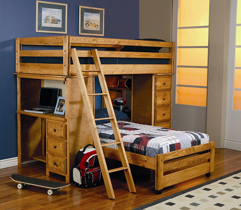Bunk & Loft Beds With a Desk You'll Love