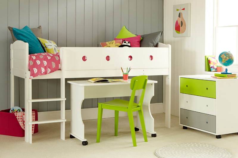 Frooti Midsleeper 4 with Desk and Chest
