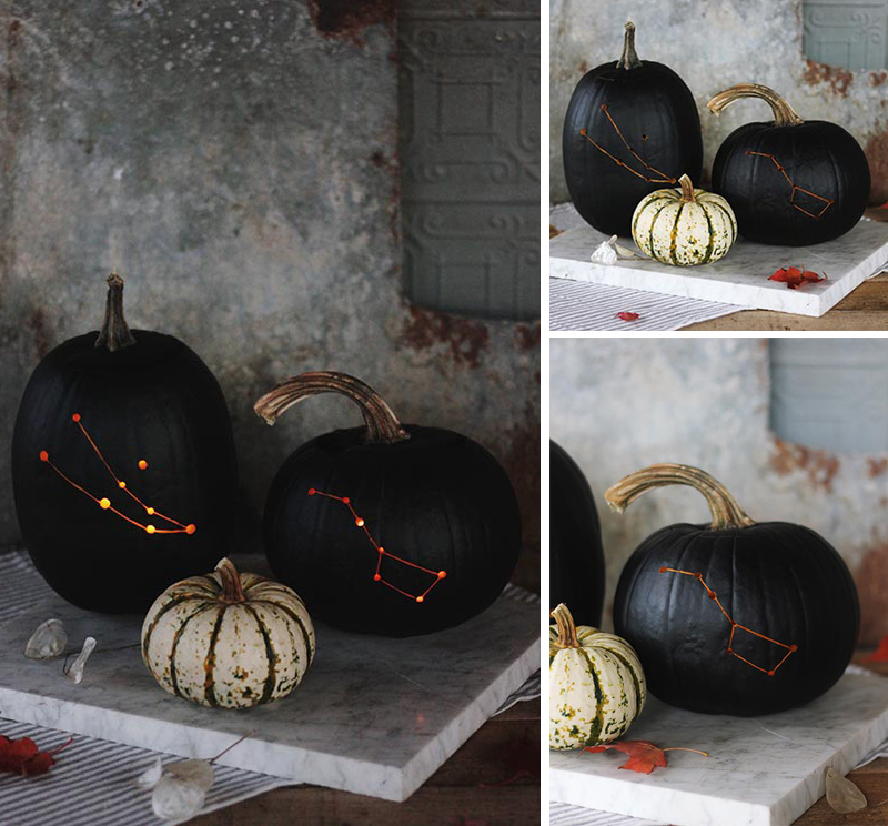 Constellation Carved Pumpkins