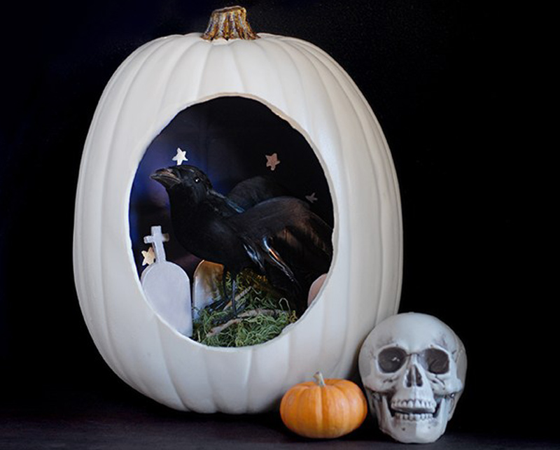 Diorama Carved Pumpkin