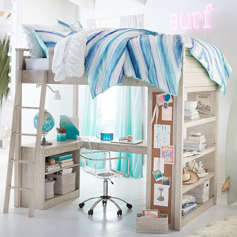 Loft Beds With Desk In 20 Chic Girls Bedroom Home Design
