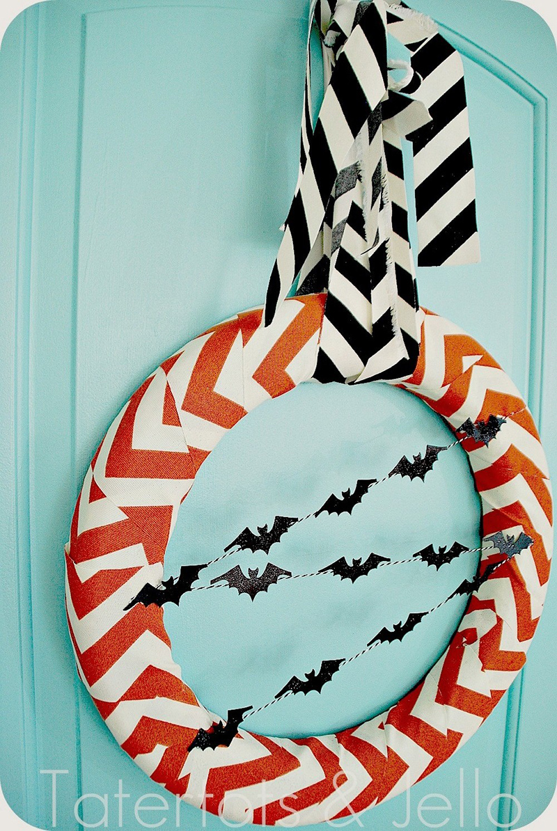 Chevron Fabric Wreath