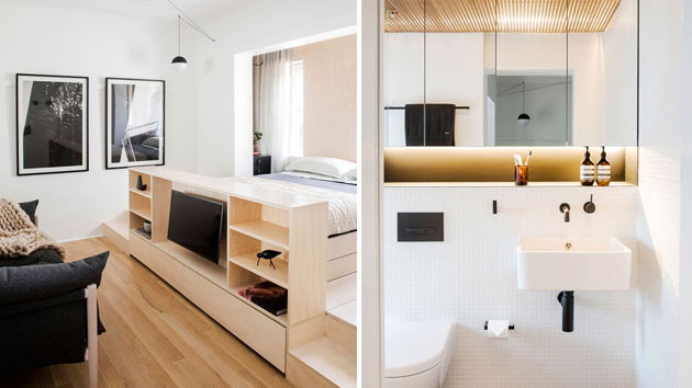 a small sydney apartment features creative storage solutions