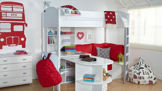 Loft Beds With Desk In 20 Chic Girls Bedroom Home Design Lover