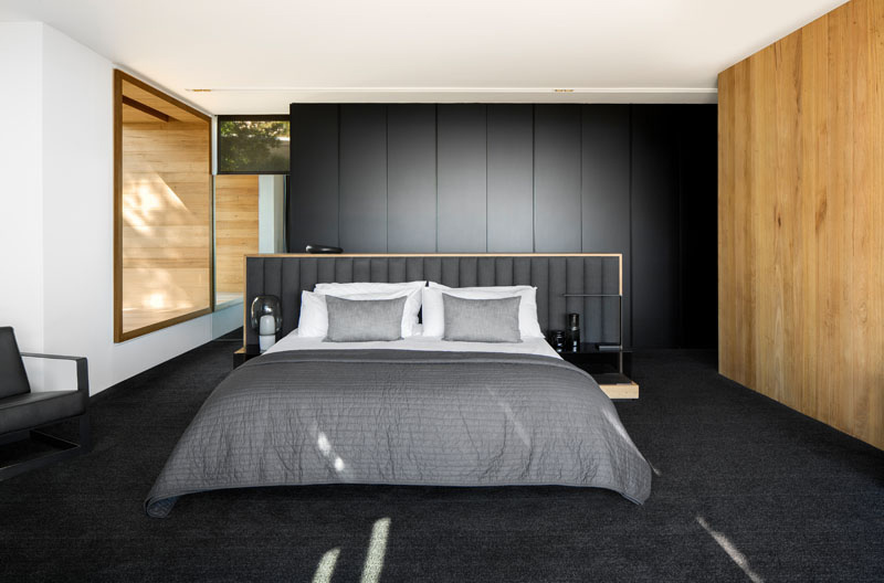 Dark Modern Home master bedroom