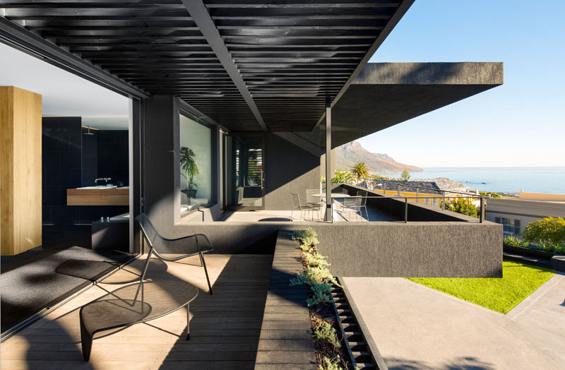 Dark Modern Home balcony