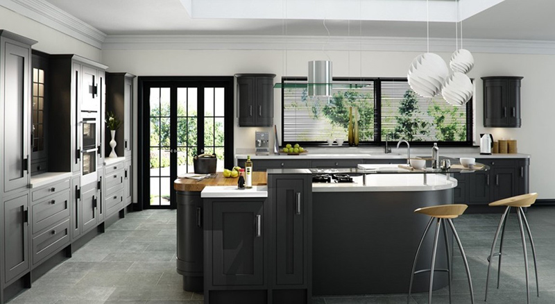 Grey inframe Kitchen