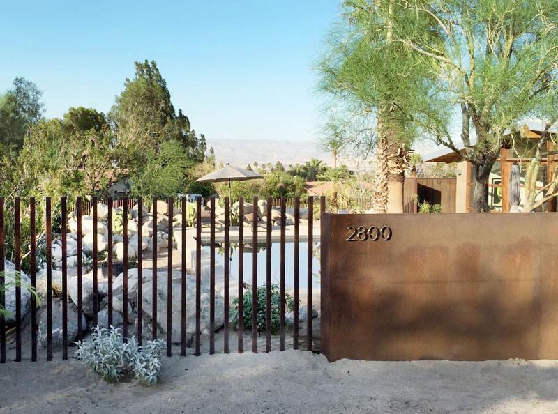 Chino Canyon fence